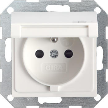 Gira 1-fach KD + SH - reinweiß matt (48827)