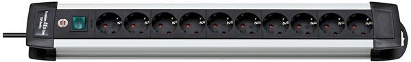Brennenstuhl Premium-Alu-Line 10-fach silber/schwarz 1391000010