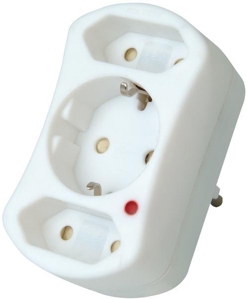 Kopp Geräte- Überspannungsschutz 1x Schuko 2x Euro