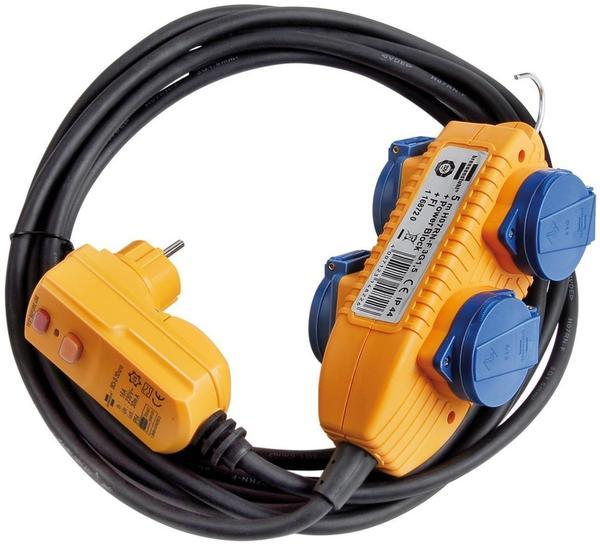 Brennenstuhl Schutzadapterleitung FI IP 44 mit Powerblock 5 m (1168720)