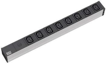 Bachmann 8-fach IEC 320-Kaltgerätedosen C13 schwarz (333.408)