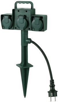 Bachmann Gartensteckdose mit Erdspieß 3-fach, grün (394.175)