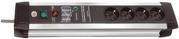 Brennenstuhl Premium-Protect-Line (1391000604) - 4-fach, aluminium/ schwarz
