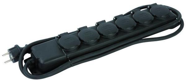 Brennenstuhl Steckdosenleiste 6-fach, schwarz 1159970