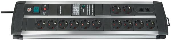 Brennenstuhl Premium-Protect-Line - 12-fach, schwarz/silber (1392000122)