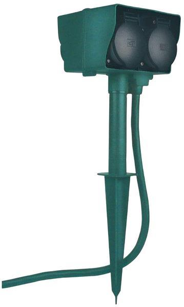 electrobi Steckdosenblock GreenLine SDB4 mit Erdspieß 4-Fach 15 m
