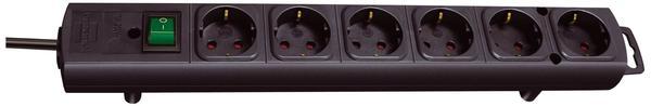 Brennenstuhl Steckdosenleiste 6-fach, schwarz 1153300