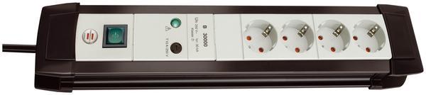 Brennenstuhl Überspannungsschutz-Steckdosenleiste 4-fach, schwarz/lichtgrau 1155050374