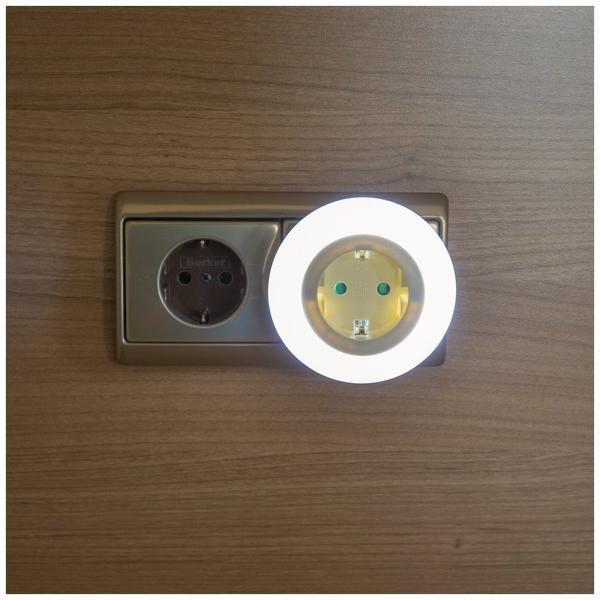 Heitronic Zwischenstecker mit LED Nachtlicht