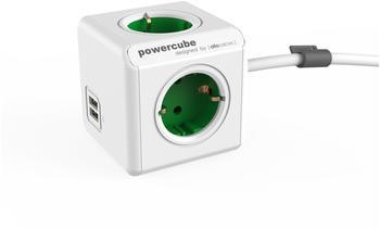 allocacoc-powercube-extended-usb-type-f-1-5m-gruen