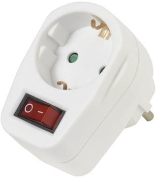 Vivanco Schuko-Adapter m. Schalter AS 1W
