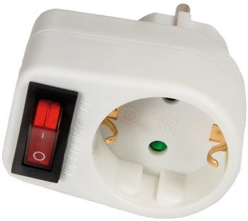 Arcas 1-fach Steckeradapter mit Schalter (947 00001)