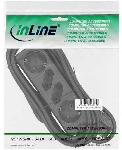 InLine 4-fach schwarz 16441