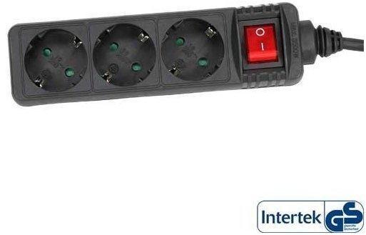 InLine Steckdosenleiste 3-fach, schwarz 16433S