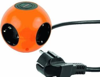 REV-Ritter Kugelsteckdose Powerglobe 4-fach orange/schwarz (0015420903)