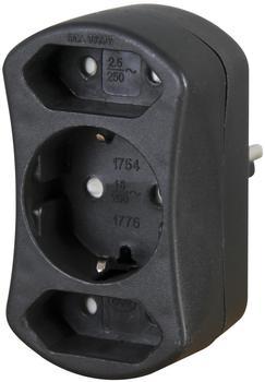 Kopp Europa-Adapter 3-fach schwarz (177605002)