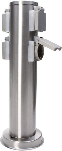 IBV Steckdosensäule 4-fach edelstahl (400166-042)