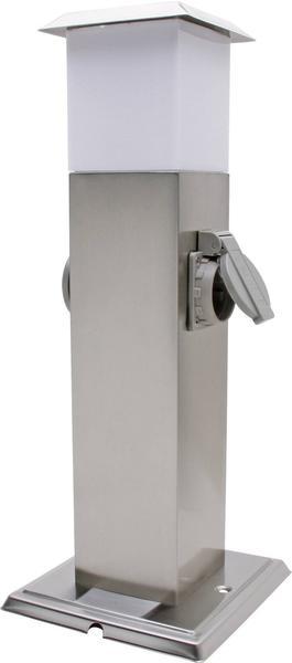 Kopp Energiesäule mit LED-Beleuchtung 2-fach edelstahl (400166-022)