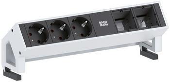 Bachmann Desk2 3-fach + 2x Custom Modul weiß/schwarz (902.201)