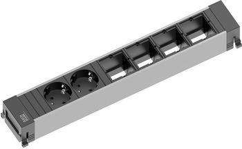 Bachmann Power Frame 2-fach + 4x Custom-Modul schwarz (916.025)