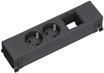 Bachmann Power Frame 2-fach + 1x Custom-Modul schwarz (916.060)