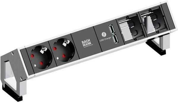 Bachmann Desk2 2-fach + 2x Custom-Modul weiß/schwarz (902.229)