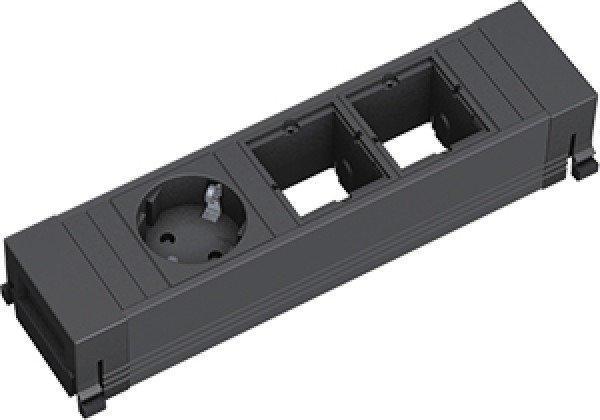 Bachmann 1-fach + 2x Custom-Modul schwarz (916.061)