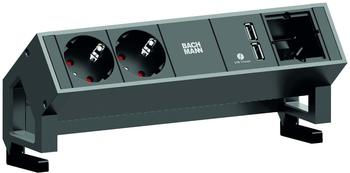 Bachmann Desk2 2-fach + 1x Custom-Modul schwarz (902.428)
