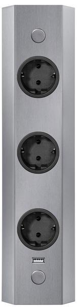 Thebo Energie-Ecksäule 3-fach edelstahl (ST 3081/320)