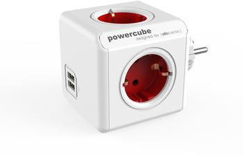 Allocacoc PowerCube DuoUSB Original rot