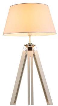 GLOBO Edle 1-flg Steh Boden Lampe Flur höhenverstellbar verstellbar Weiß Globo 58292