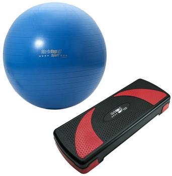 CHRISTOPEIT Christopeit Fitness Set 2-teilig: Steppbrett inkl. Ball, 4558