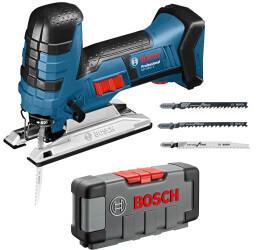 Bosch GST 18 V-LI S Professional Solo + 30tlg Stichsägeblätter-Set
