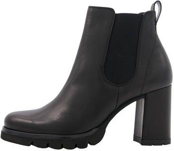 Paul Green Klassische Stiefeletten Chelsea Boots schwarz/grün (9700-007)