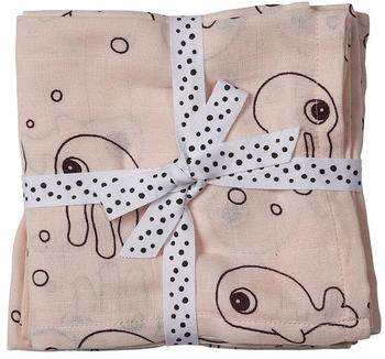 Done by Deer Burp Cloth 2-Pack sea friends powder