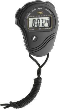 TFA Dostmann TFA Stoppuhr 38.2029 schwarz Zeitmesser mit Zwischenzeit Datum Uhrzeit Alarm inkl. Batterie