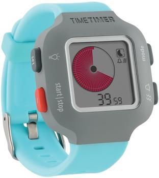 Time Timer Armbanduhr Damen und Kinder grau mit hellblauem Armband
