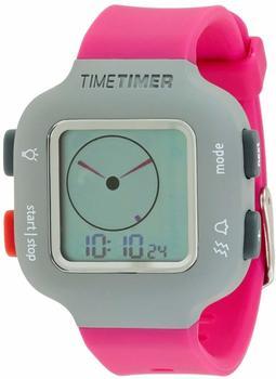 Time Timer Armbanduhr Damen und Kinder grau mit Armband pink
