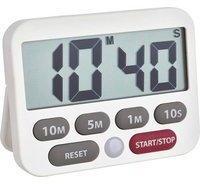 TFA Timer Digitaler Timer und Stoppuhr, weiß Weiß digital