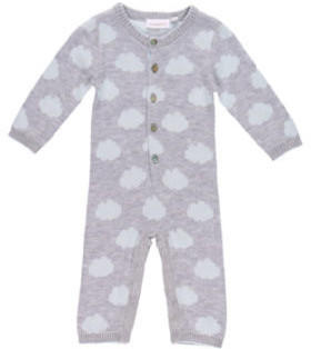 noukie's Boys Overall Cocon grey and blue (Z750122)