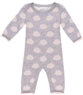 noukie's Girls Overall Cocon grey and pink (Z750123)