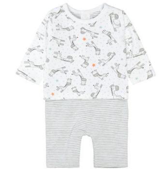 Staccato Strampler+Shirt white gemustert (230074619-100)