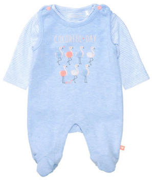 Staccato Strampler+Shirt light blue melange (230075498-651)