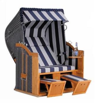 SonnenPartner Classic Strandkorb Halbliegemodell (Dessin 118)