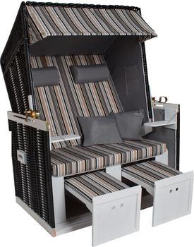 TecTake Luxus Strandkorb schwarz/grau/braun (Nr. 401100)