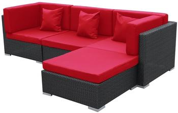 Jet-Line exclusive furniture Bergen schwarz-rot
