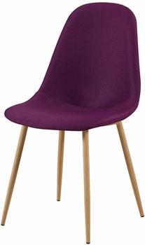 SIT SIT&CHAIRS Stuhl 2er-Set 2498 aubergine/hellbraun