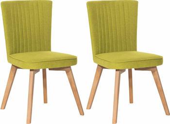 SIT SIT&CHAIRS Stuhl 2er Set Cape grün/antikfinish