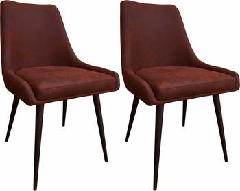 SIT SIT&CHAIRS Stuhl 2er Set Cowboy braun/antikschwarz