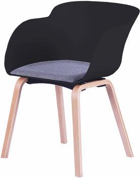 SIT SIT&CHAIRS Armlehnstuhl 2er-Set schwarz/natur